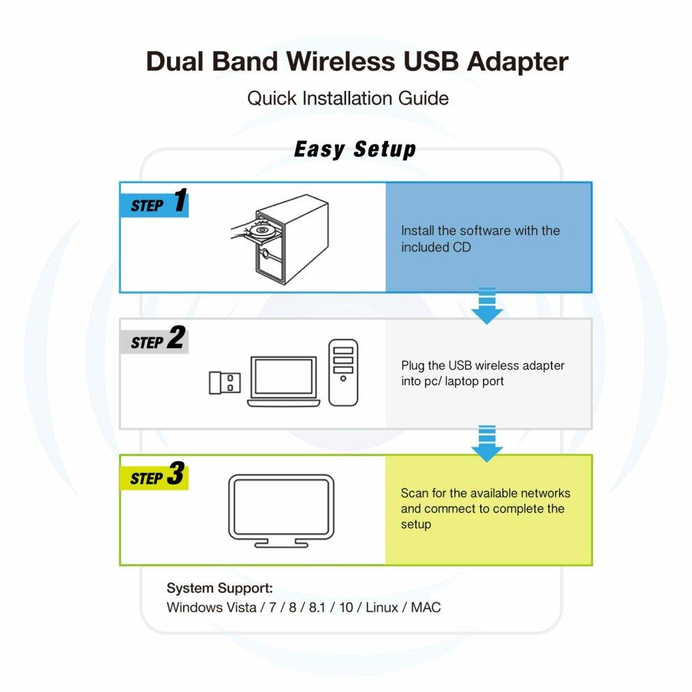 Usb Wifi Adapter 1200mbps Long Range 802 11 AC Dual Band 5g 867mbps