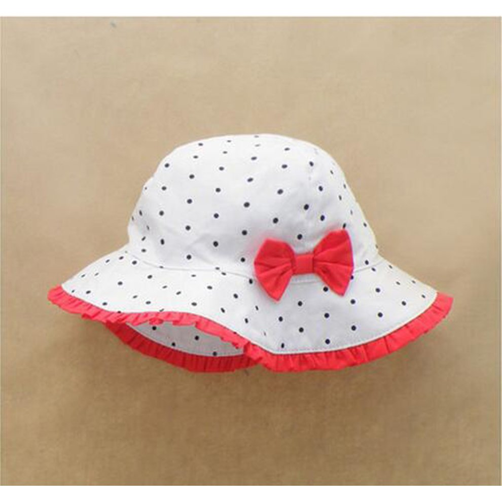93407fd2767 ... Summer Baby Girl Caps Cotton Sun Hat For 2-3 Years Baby White - 1.