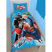 Batman V Superman Clash Single Duvet Cover Set Polycotton