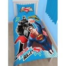 Batman V Superman Clash Single Duvet Cover Set Polycotton