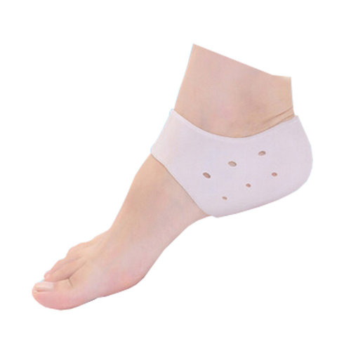 White Heel Spur For Sore Foot Pain Relief 3 Pair Silicone Heel Protector