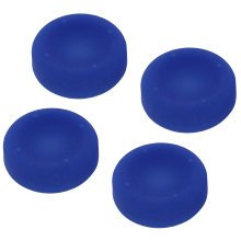 ZedLabz concave soft silicone thumb grips for Sony PS4 controller analog sticks - 4 pack blue