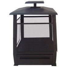 Esschert Design Pagoda Fire Pit Metal 59x59x78 cm Black FF122
