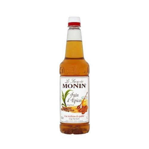 Monin Gingerbread Coffee Syrup 1 Litre (plastic)