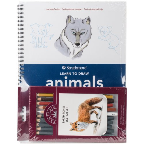 Learn To Draw Animals In Color Set-
