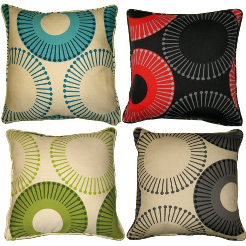 Metz Polycotton 18 x 18 printed Floral Cushion Cover in Colors