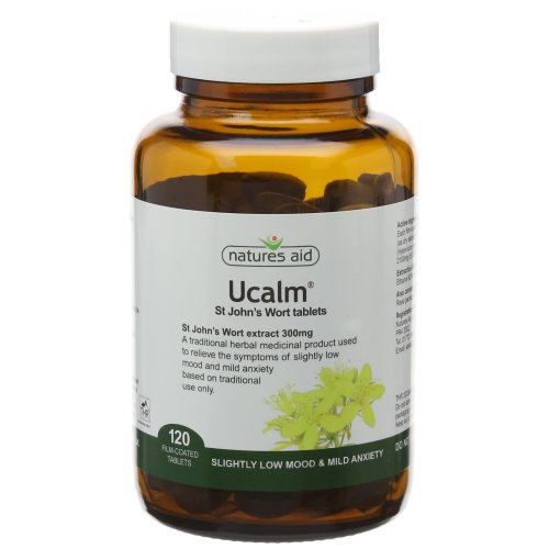 Natures Aid Ucalm St John Wort Tablets - Pack of 120