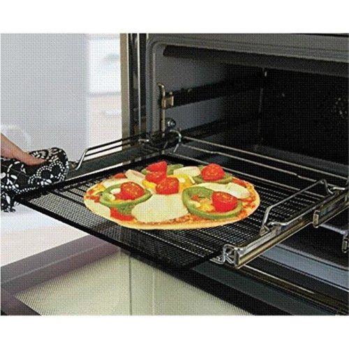 Cooks Innovations TC1414X2 Oven Crisper & Grill Sheet, Black - Pack of 2