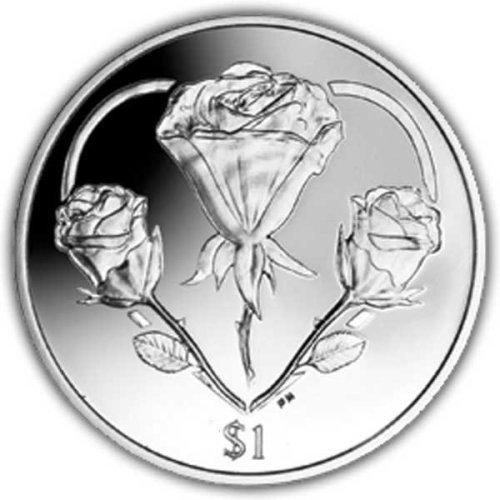 British Virgin Islands 2015 British Virgin Islands Rose - A symbol of Love Unc. CuNi Coin
