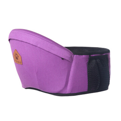 Baby Carrier Single Waist Stool Hip Seat Carrier,Pure Cotton Baby Carrier Purple