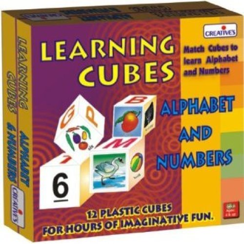 Creative Pre-school Alphabet & Number Learning Cubes - Preschool Educational -  creative preschool alphabet number cubes educational learning cre0637