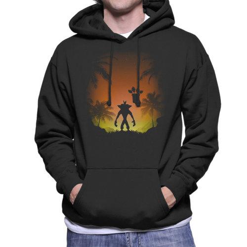 Crash Bandicoot Protector Of The Island Men's Hooded Sweatshirt