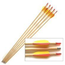 "Wooden Trainer Arrows - 27"" Long - Set of 5"