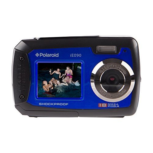 Polaroid iE090 Dual-Screen Waterproof Digital Camera (18 MegaPixel, 2.7 Inch Screen, 4x Digital Zoom) (Blue)
