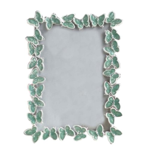 6-inch Photo Frame Butterfly Photoframe and Home Decoration, Green