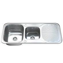 Dihl 1503 1.5 One & Half Bowl Stainless Steel Kitchen Sink, Drainer & Waste