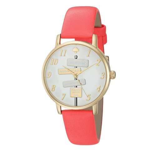 Kate Spade Metro Clocktower Gray Leather Ladies Watch KSW1127