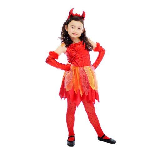 Girls Devil Fancy Dress Costume Age 4-6 Halloween