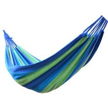 "Creative Canvas Stripe  Quilted Fabric Hammock Foldable Hammock Blue 72.8*31"""
