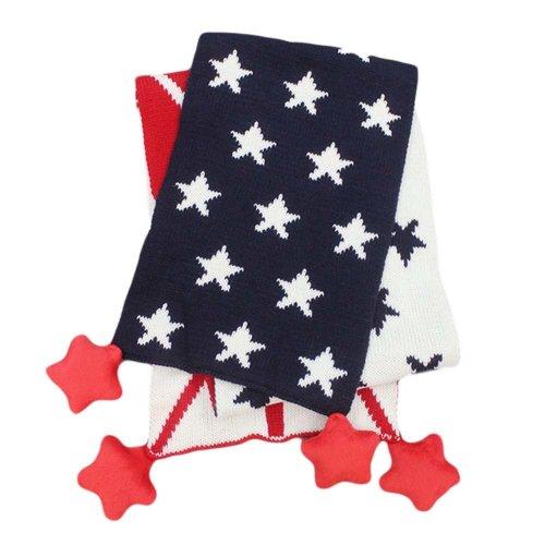 Cotton Baby Warm Scarf Star Pattern Unisex Neckerchief Muffler Bandelet