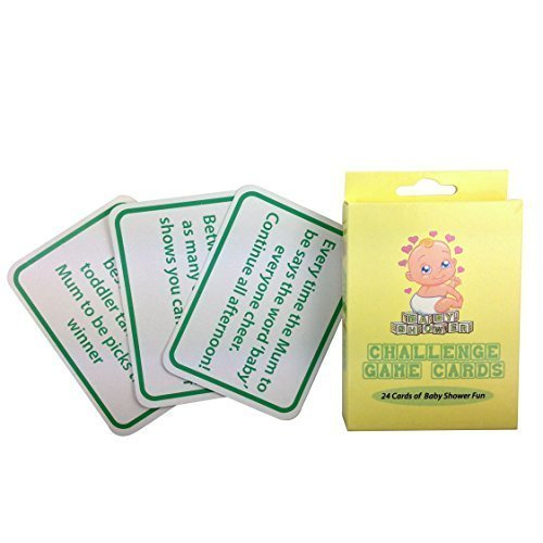 Alandra Baby Shower Callenge Game Cards - Challenge Games Party Fun 24 -  baby shower game challenge cards games party fun 24
