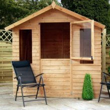 7x5 Overlap Summerhouse - Stable door