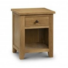 Rachel Bedside - Oak - 1 Drawer Fully Assembled