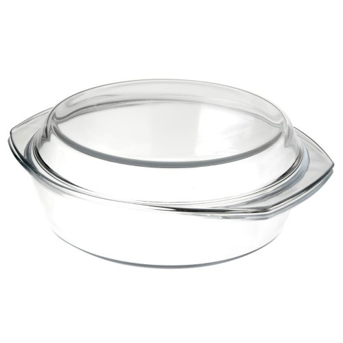 Tempered Glass Casserole Dish with Lid, 2 Litre