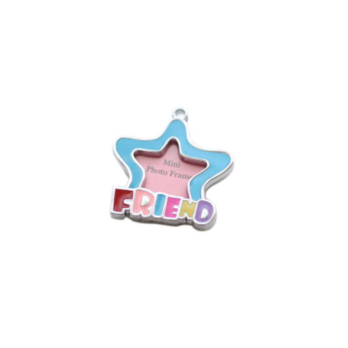 [FRIEND] Colored Star Decorated Mini Photo Frame Style Dog ID Tag Cat ID Tag