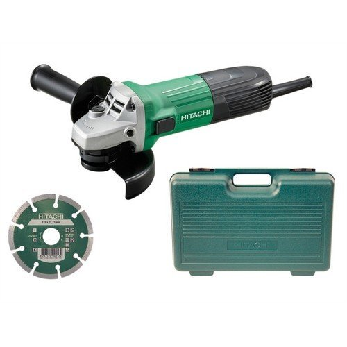 Hitachi G12STX/J8 115mm Angle Grinder, Diamond Blade & Case 600 Watt 110 Volt