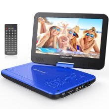 """DBPOWER® 10.5"""" Portable DVD Player, 4 Hour Rechargeable Battery, Swivel Screen"""