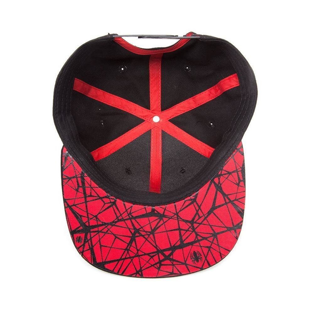 53d5fc86f0aa36 ... Marvel Comics Ultimate Spider-Man Embroidered Spidey Logo Baseball Cap  Black/Red - 2 ...