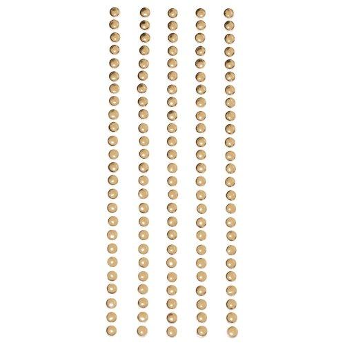 Metal Stickers Nailheads 3mm Round 125/Pkg-Gold