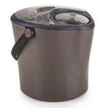 Polder Chill Station Ice Bucket & Wine/Spirits Bottle Chiller 2-in-1 - Gunmetal