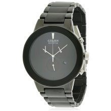 Citizen Eco-Drive Axiom Chronograph Black Mens Watch AT2245-57E