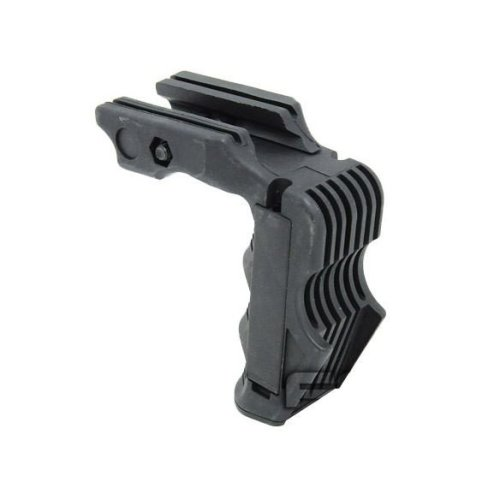 Airsoft Rail Mounted Vertical Grip For Magwell Pressure Pad Ready Black Swat Uk
