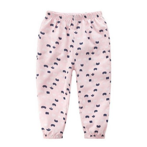 Comfortable Soft Children's Trousers, Pink And Black