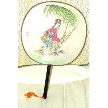 Japanese Lady Fan 1980's Japanese Lady Hand Fan 1980's Vintage