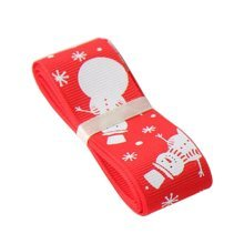 Red Gift Wrapping Streamers  [Snowman] Christmas Decor Ribbon