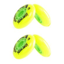 Set of 4 Skate Wheels with Bearings Skate Accessories Inline,Yellow, 72MM
