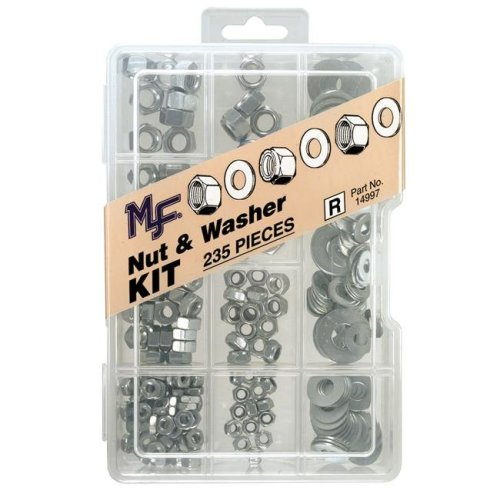 Midwest Fastener Corp Dc 235 Piece  Nut & Washer Assortment Kit  14997