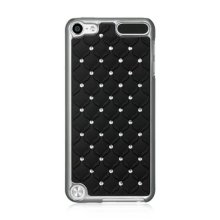 DreamWireless IPOD-CHTH5STDCKBK-R Apple Ipod Touch 5 Chrome Case - Studded Diamond, Black