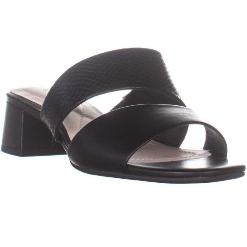 A35 Eviee Open Toe Casual Slide Sandals, Black, 7 UK