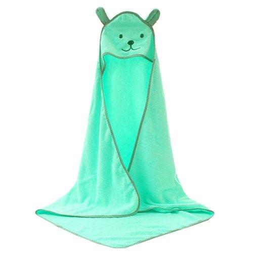 Baby Soft Cotton Breathable Bath Towel Kids Bathcloth Cloak Bathrobe 0-7 Years(Light Green)