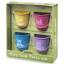Eddingtons Toy Box Egg Cups, Set Of 4 - Bucket Cups Style Boiled Designs -  egg eddingtons set bucket cups 4 toy box style boiled designs