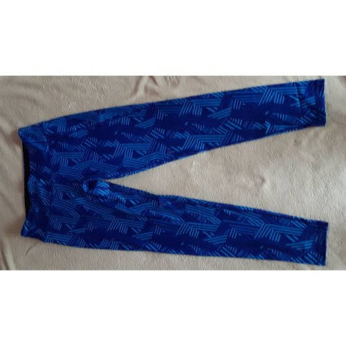 Women's TriDri Royal Blue Crossline Running Gym Workout Leggings