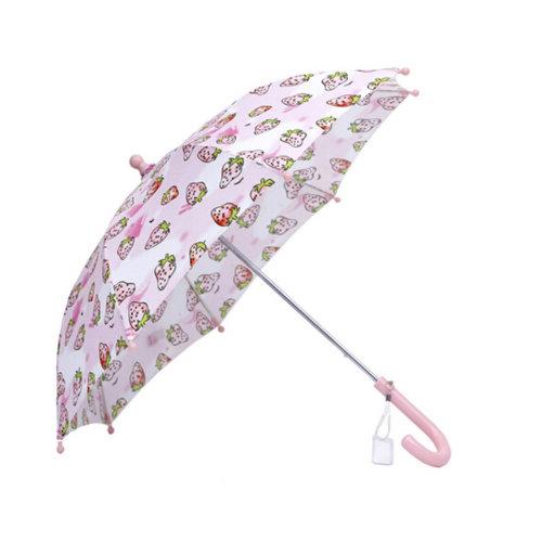 Rainy Sunny Day Umbrella Childrens/Bright colors  Umbrella,?0-5Ages),Strawberry