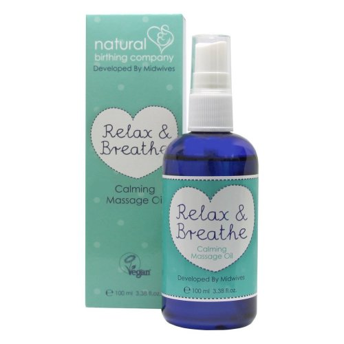Natural Birthing Company Relax and Breathe Calming Massage Oil 100ml