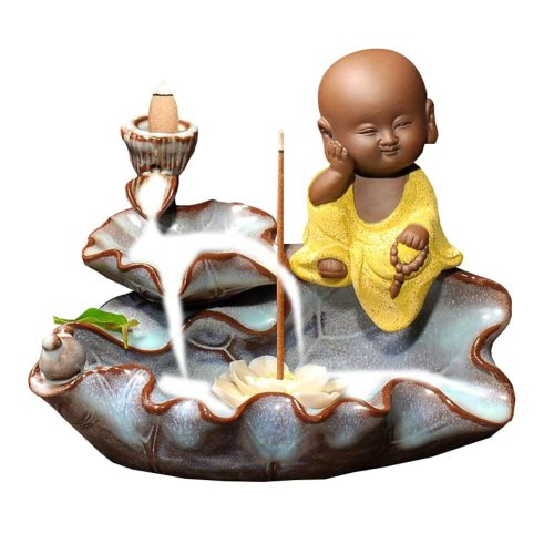 Porcelain Monk Design Incense Burner