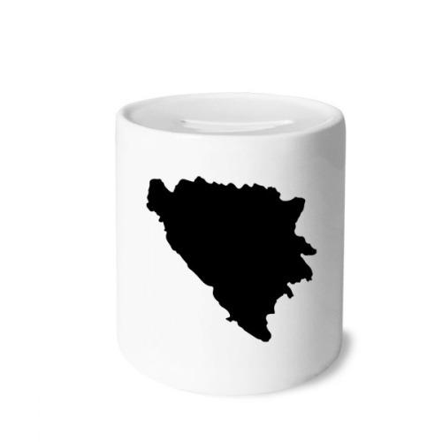 Bosnia and Herzegovina Map Country Money Box Saving Banks Ceramic Coin Case Kids Adults